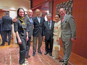 Les Professeurs Koike et Tanaka à l'Ambassade de France